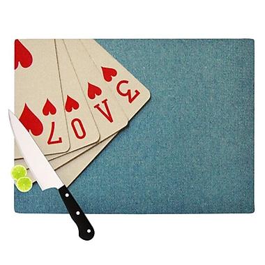 KESS InHouse Love Cutting Board; 11.5'' H x 15.75'' W