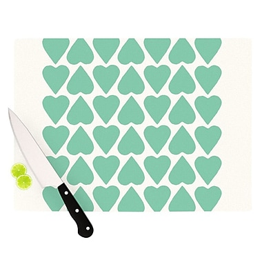 KESS InHouse Up and Down Hearts Cutting Board; 11.5'' H x 8.25'' W