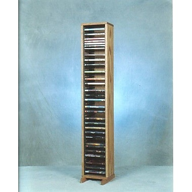 Wood Shed 100 Series 64 DVD Multimedia Storage Rack; Dark