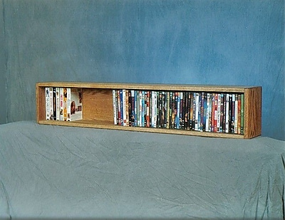Wood Shed 100 Series 88 DVD Multimedia Tabletop Storage Rack; Dark