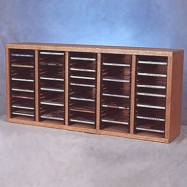 Wood Shed 500 Series 100 CD Multimedia Tabletop Storage Rack; Unfinished
