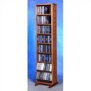 Wood Shed 800 Series 208 CD Dowel Multimedia Storage Rack; Clear