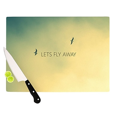 KESS InHouse Let's Fly Away Cutting Board; 11.5'' H x 8.25'' W