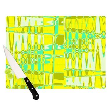 KESS InHouse Changing Gears in Sunshine Cutting Board; 11.5'' H x 15.75'' W