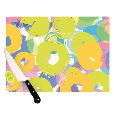 KESS InHouse Circle Me Cutting Board; 11.5'' H x 8.25'' W x 0.25'' D
