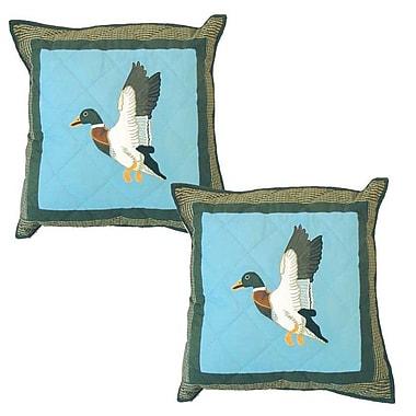 Patch Magic Mallard Cotton Throw Pillow (Set of 2)