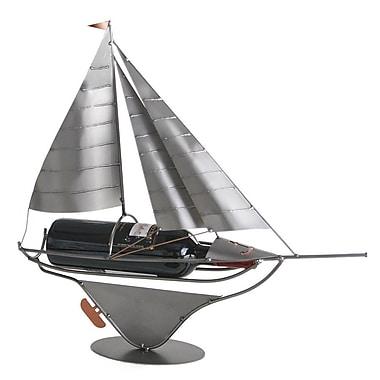 H & K SCULPTURES Sailboat 1 Bottle Tabletop Wine Rack