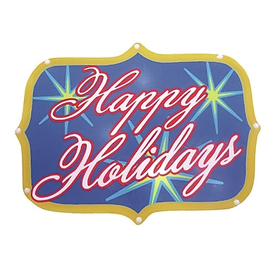 Brite Star Happy Holidays Show Sign 20 Light LED Light