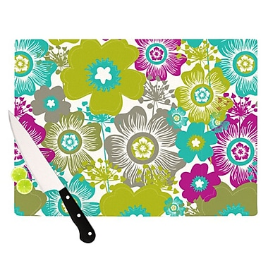 KESS InHouse Little Bloom Cutting Board; 11.5'' H x 15.75'' W