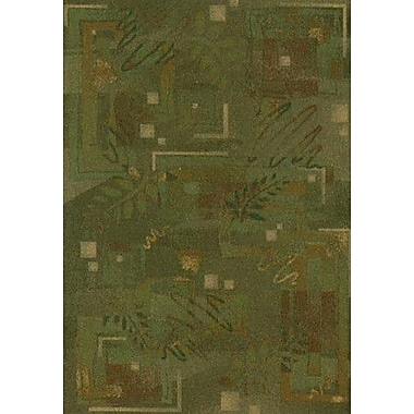 Milliken Innovation Twill Olive Autumn Area Rug; Oval 3'10'' x 5'4''