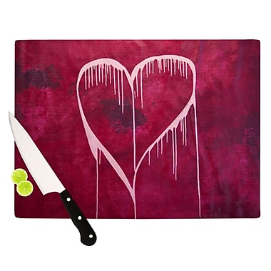 KESS InHouse Miss You Cutting Board; 11.5'' H x 15.75'' W