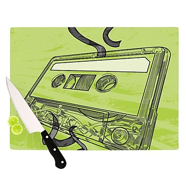 KESS InHouse Mixtape Cutting Board; 11.5'' H x 8.25'' W