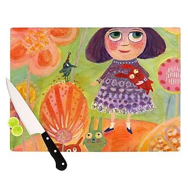 KESS InHouse Flowerland Cutting Board; 11.5'' H x 8.25'' W