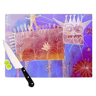 KESS InHouse Scary Song about Love Cutting Board; 11.5'' H x 8.25'' W