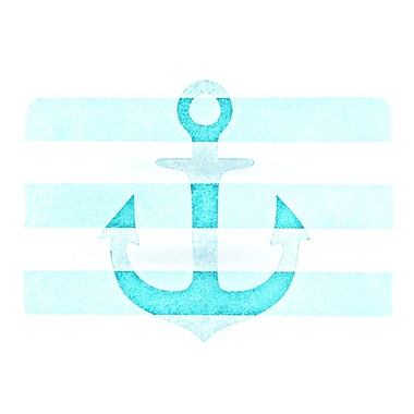 KESS InHouse Stone Vintage Anchor Placemat; Aqua
