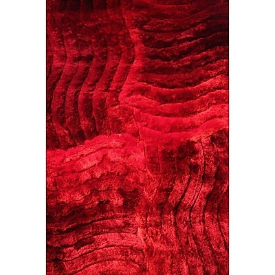 Rug Factory Plus Shaggy 3D Red Area Rug; 5' x 7'
