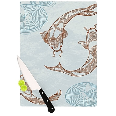 KESS InHouse Koi Cutting Board; 11.5'' H x 15.75'' W