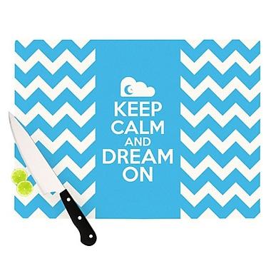 KESS InHouse Keep Calm Cutting Board; 11.5'' H x 8.25'' W