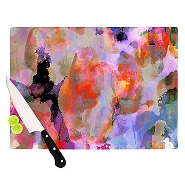 KESS InHouse Painterly Blush Cutting Board; 11.5'' H x 8.25'' W