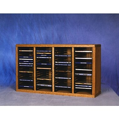 Wood Shed 400 Series 80 CD Multimedia Tabletop Storage Rack; Natural