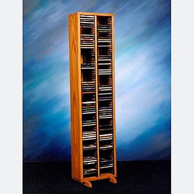 Wood Shed 200 Series 160 CD Multimedia Storage Rack; Natural