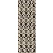 Jill Rosenwald Rugs Fallon Coffee Bean Hand-Woven Chocolate Area Rug; Runner 2'6'' x 8'