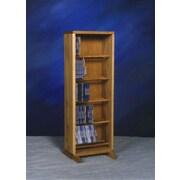 Wood Shed 500 Series 130 CD Dowel Multimedia Storage Rack; Dark