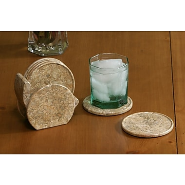 Marble Products International Fossil Stone Coaster (Set of 6)