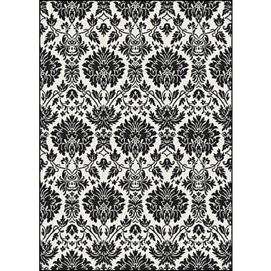 Milliken Manor Uptown Hand-Tufted Black/White Area Rug; 3'10'' x 5'4''