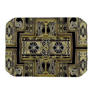 KESS InHouse Golden Art Deco Placemat; Gold and Black