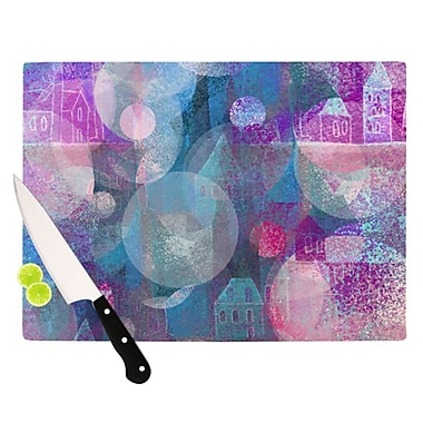 KESS InHouse Dream Houses Cutting Board; 11.5'' H x 8.25'' W