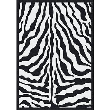 Milliken Black & White Zebra Glam Black Ink Area Rug; 2'8'' x 3'10''