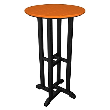 POLYWOOD Contempo Bar Table; Black & Tangerine