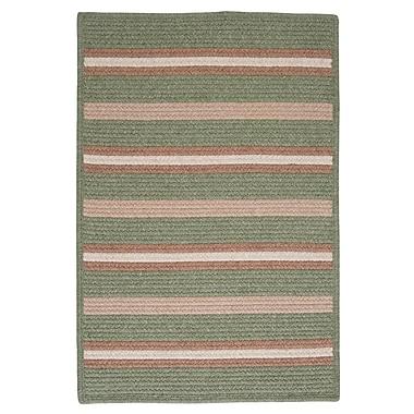 Colonial Mills Salisbury Green Striped Area Rug; Runner 2' x 12'