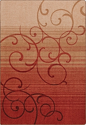 Milliken Mix and Mingle Festival Red Whispering Wind Rug; Rectangle 7'8'' x 10'9''