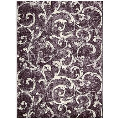 Kathy Ireland Home Gallery Santa Barbara El Palacio Purple/Cream Area Rug; 9'3'' x 12'9''