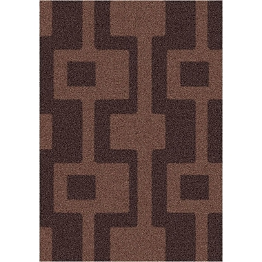 Milliken Modern Times Uptown Dark Chocolate Area Rug; Rectangle 2'8'' x 3'10''