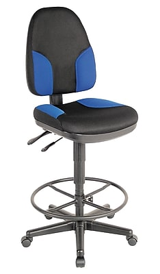 Alvin and Co. Monarch Drafting Chair; Black and Blue