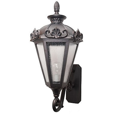 Melissa Parisian Elegance 3-Light Outdoor Sconce; Black