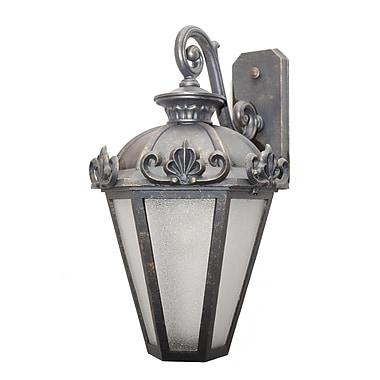 Melissa Parisian Elegance 3-Light Outdoor Wall Lantern; Architectural Bronze