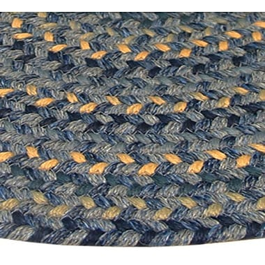 Thorndike Mills Pioneer Valley II Williamsbury Blue Multi Octagon Outdoor Rug; Octagon 6'