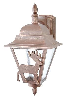 Melissa Americana 1-Light Outdoor Wall Lantern; Old Iron