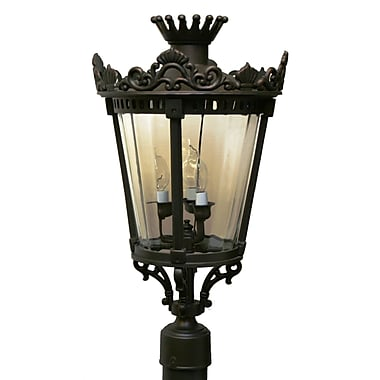 Melissa Tuscany TC4350 Series 3-Light Lantern Head; Aged Silver