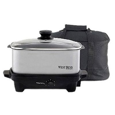 West Bend 5-Quart Slow Cooker; Silver WYF078275628420