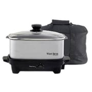 West Bend 5-Quart Slow Cooker; Silver