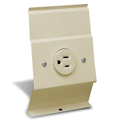 Cadet F Series Baseboard Integral Receptacle Kit Accessory; Almond