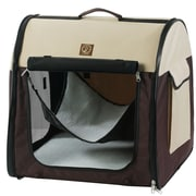 OneForPets Single Fabric Portable Pet Crate/Carrier; Cream / Brown