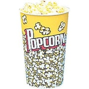Snappy Popcorn Yellow Popcorn Cups (Set of 25); 32 Oz (50 Count)