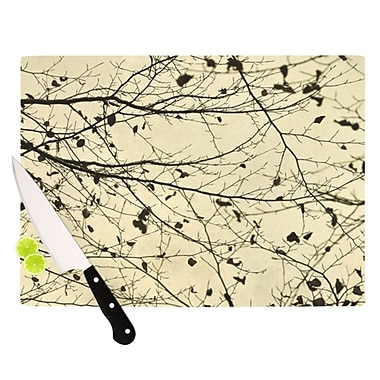 KESS InHouse Boughs Neutral Cutting Board; 11.5'' H x 15.75'' W x 0.15'' D