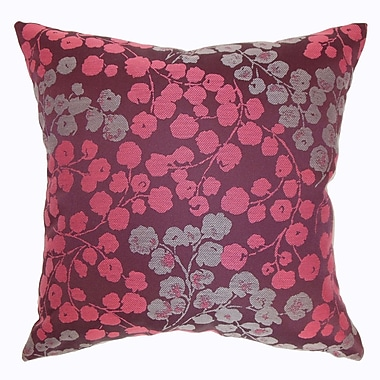 The Pillow Collection Fleur Floral Throw Pillow; 18'' x 18''